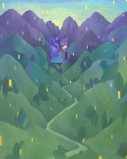 Pino DEODATO - Painting - Concerto di lucciole