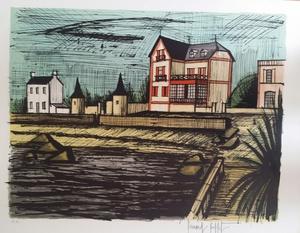 Bernard BUFFET - Print-Multiple - BRIGNOGAN , LA PLAGE