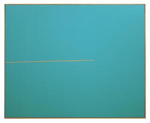 Mario NIGRO - Gemälde - Linea rossa gialla orange (dal Guardi)