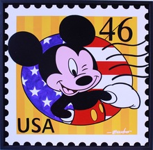 Guy BOUDRO - Pintura - Mickey USA