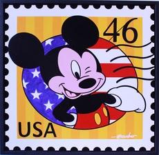 Guy BOUDRO - Pintura - Mickey USA