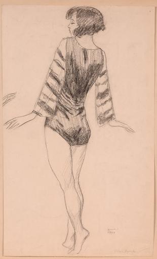 """Anton Josef STORCH - Drawing-Watercolor - """"Dancer"""", Drawing, 1927"""