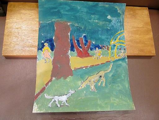 Franziskus DELLGRUEN - Drawing-Watercolor - Im Park