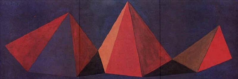 Sol LEWITT - Stampa-Multiplo - Piramidi VI