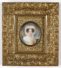 "Emanuel Thomas PETER - Miniatur - Portrait of a lady"" miniature on ivory"