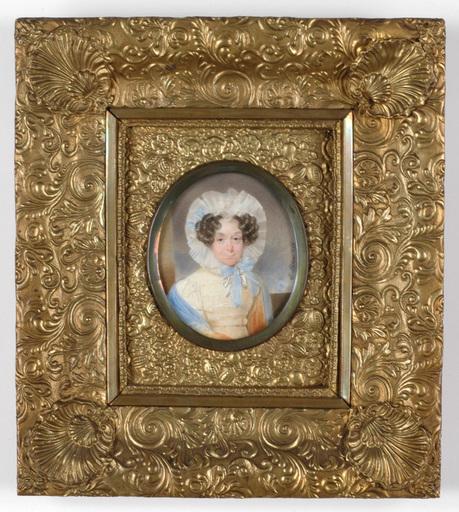 "Emanuel Thomas PETER - Miniature - Portrait of a lady"" miniature on ivory"