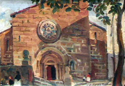 José SEIJO RUBIO - Pintura - IGLESIA SANTIAGO CORUÑA