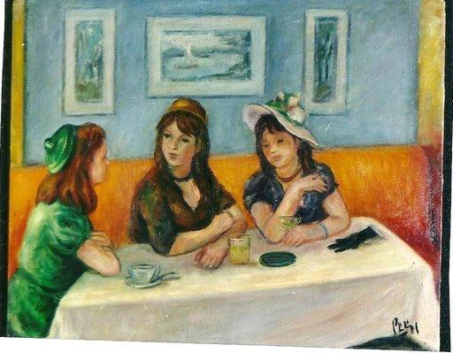 Robert PHILIPP - 绘画 - At the Cafe