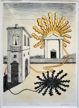 乔治•德•基里科 - 版画 - Sole sul tempio