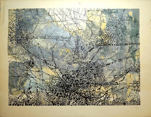 Juan VILACASAS - Zeichnung Aquarell - Planimetria. Paris.