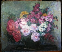 Gaston ANDRE - Peinture - BOUQUET DE GIROFLEES