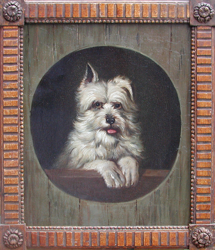 Bernhard GEMPT TE - Pintura - Portrait of a West-highland Terrier