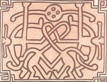 Keith HARING (1958-1990) - Chocolate Buddha II