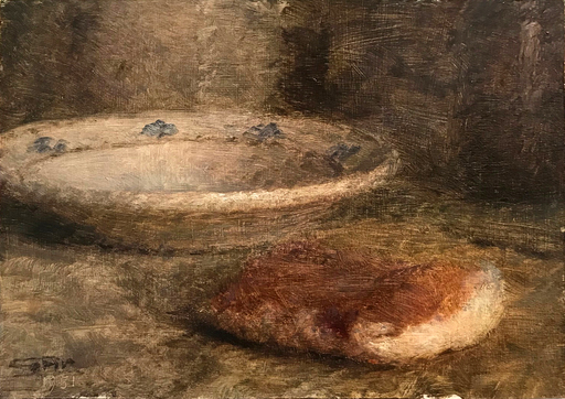 Giuseppe AR - Peinture - Natura morta con piatto