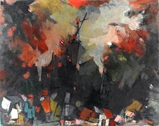 Esther PEREZ-ARAD - Peinture - City Scape