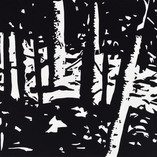 Alex KATZ - Grabado - Maine Woods II