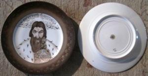 Boris Mikhailovich KUSTODIEV, Five hand painted porcelain plates by Kornilov factory