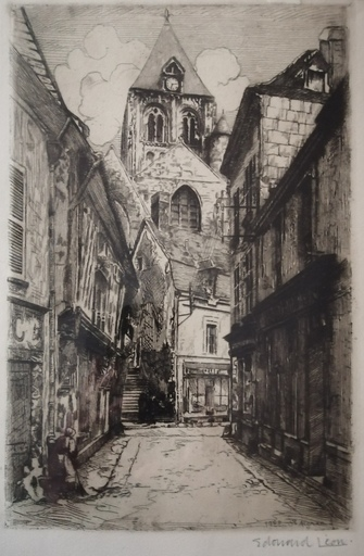 Édouard Henri LÉON - Druckgrafik-Multiple - Saint Aignan