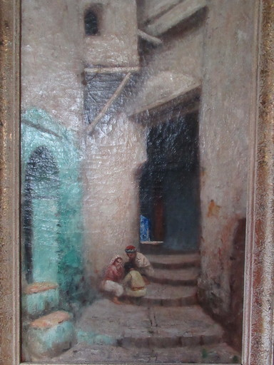 Joseph SINTES - Pittura - Casbah d'Alger
