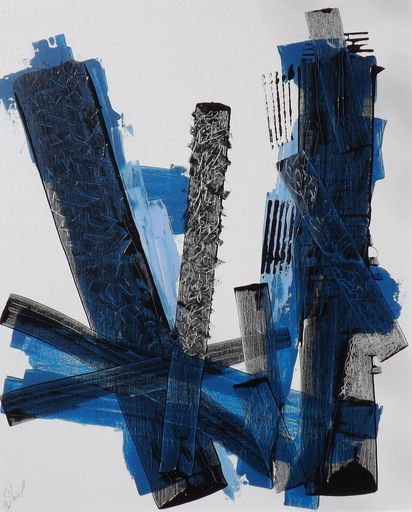 Benoit THIEL - Painting - Blue to Black