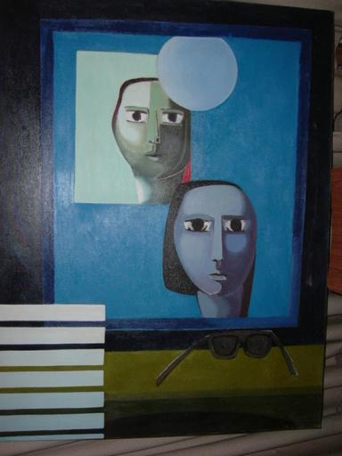 """Antonio GUANSE - Painting - """"les portes du ,miroir"""""""