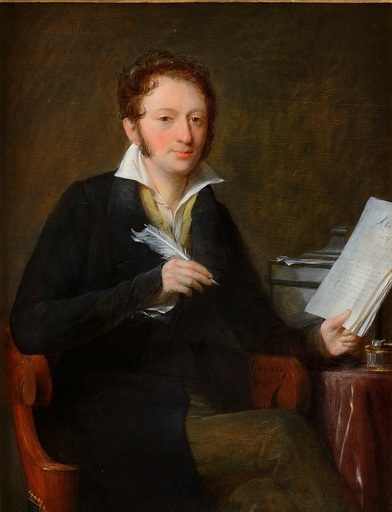 Jean-François GARNERAY - 绘画 - Portrait d'Hippolyte Bis
