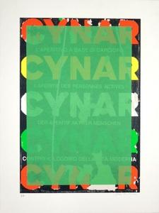 Mimmo ROTELLA - Stampa Multiplo - Blank Cynar