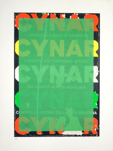 Mimmo ROTELLA - Estampe-Multiple - Blank Cynar
