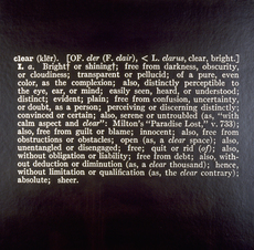 Joseph KOSUTH - Photo - clear - 1966 - Art as Idea as Idea
