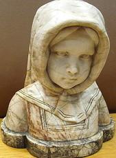 Reinhard SCHNAUDER - Sculpture-Volume - Büste eines jungen Mädchens