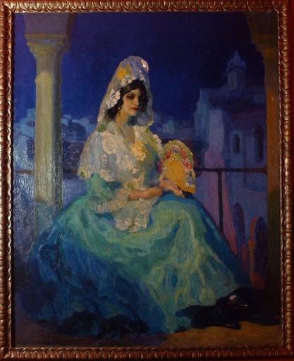 Gustavo BACARISAS PODESTA - Painting - BELLEZA ANDALUZA