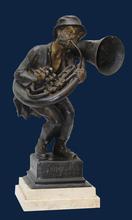 Achille D'ORSI - Escultura - L'usignolo