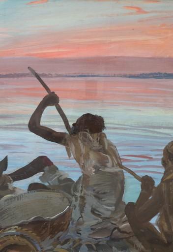 Alexander Evgenevich IACOVLEFF - 绘画 - La Pirogue