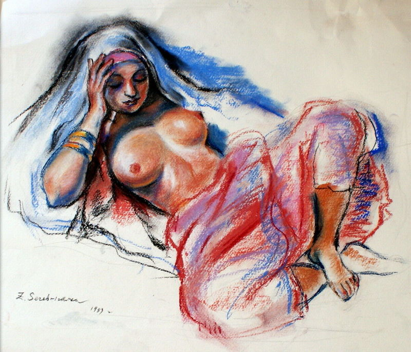 Sinaida Jewgenewna SEREBRJAKOWA - Drawing-Watercolor - nude