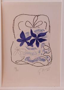 Georges BRAQUE - Print-Multiple - Lettera Amorosa : Les deux iris bleus