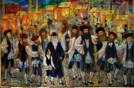 Victor BRINDATCH - Peinture - Hanukkah in Tel Aviv