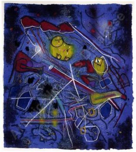 Roberto MATTA - Grabado - *Redness in Blue