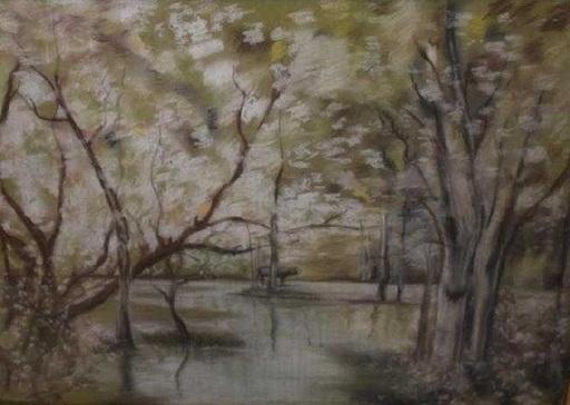 Joaquin VAYREDA Y VILA - Gemälde - Catalan pastel Puddle
