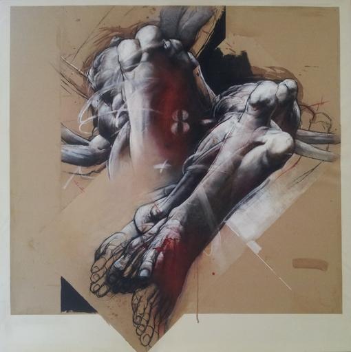 Claude DUVAUCHELLE - Pintura - L'écrit et les maux, déclinaison 8