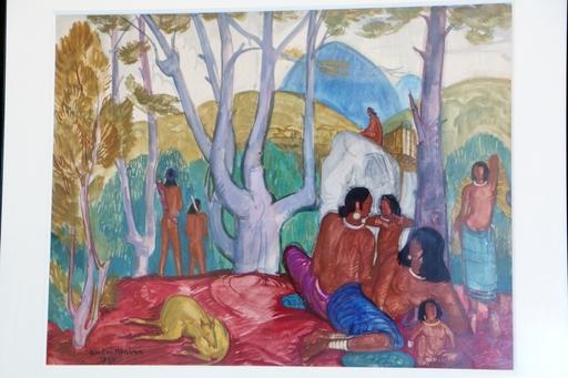 André MAIRE - Peinture - Après-midi chez les MoÏs