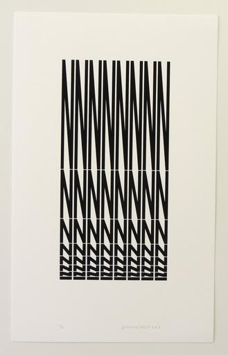 Véra MOLNAR - Print-Multiple - Structure à partir de la lettre N