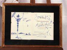 Salvador DALI - Zeichnung Aquarell - don quijote de la mancha