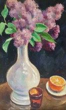 Georges DE POGEDAIEFF - Painting - Bouquet of Lilacs and Orange