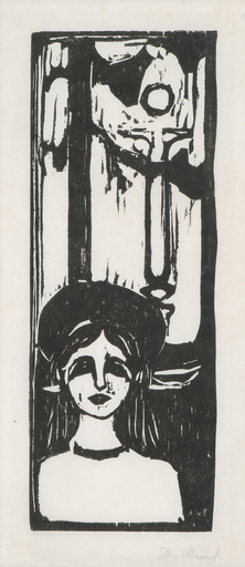 Edvard MUNCH - Print-Multiple - Woman in the Moonlight. The Voice