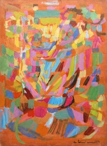 Jean EKIERT - Painting - Composition abstraite