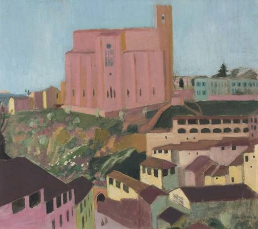 Maurice DENIS - Painting - San Domenico de Sienne (Quartier des tanneurs)