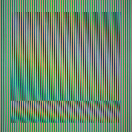 Carlos CRUZ-DIEZ - Estampe-Multiple - Induction Chromatique a double fréquence Série Orinoco 3