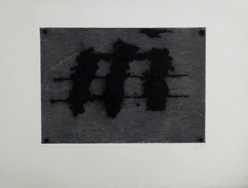 Antoni TAPIES - Radierung Multiple - Three spots and Black line