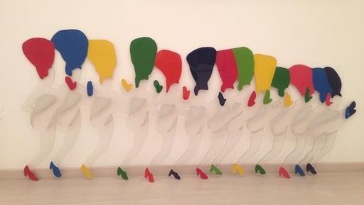 Marco LODOLA - Escultura - Can can 13 Ballerine