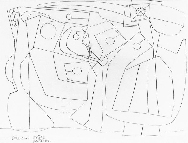 Mattia MORENI - Drawing-Watercolor - Antibes (Strutture)